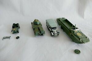 Lot Véhicules Militaires Amphibie Char Jeep - Plastique