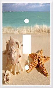 SEA SHELL STARFISH BEACH  # 21 LIGHT SWITCH COVER PLATE U PICK  PLATE SIZE
