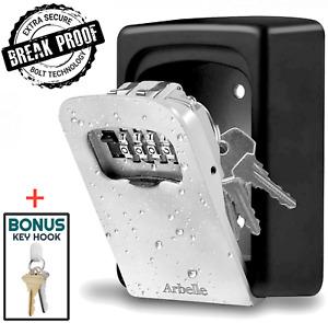 Key Lock Box Wall Mount Key Hider Break Proof Large Capacity Holds Up to 7 Keys