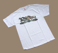 HORSE & WESTERN LADIES WOMENS APPALOOSA HORSES  TEE SHIRT - MED - WHITE