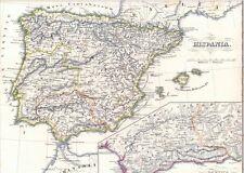 🎄🕯WEIHNACHTEN🕯️🎄 168 Jahre alte Landkarte HISPANIA Mallorca Formentera 1850
