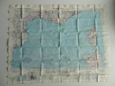 ORIGINAL WW2 COLD WAR FABRIC SILK ESCAPE MAP MARSEILLE NICE BARCELONA CORSICA