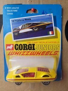CORGI WHIZZWHEELS - PININFARINA MODULO [YELLOW] CAR MINT VHTF BLISTER CARD GOOD