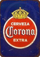"1940 Corona Extra Cerveza Vintage Metal Sign 8"" x 12"""