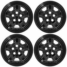 "07-17 Jeep Patriot 16"" Black Wheel Skins Hub Caps 5 Spoke Rim Covers Simulators"