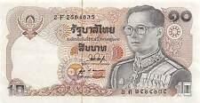 Thailand  10 Baht  ND. 1980  P 87 Series 2 F Sign. # 53 Circulated Banknote
