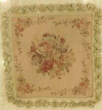 "20"" NeedlePoint-PetitPoint Pillow Cushion Sham with Tassels DM16B Peach"