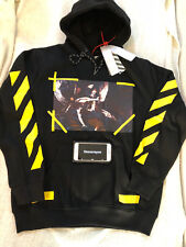 Off White c/o Virgil Abloh Angel Wing YellowPaint hoodie Black Size US Large