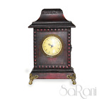 Reloj Antigua Vintage Madera Cereza Rojo oscuro De Tabla Cómoda Números Romanos