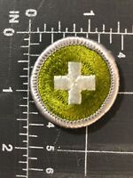 Vintage Boy Scouts of America BSA Safety Merit Badge Patch Eagle Required Cross