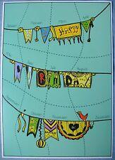 Happy Birthday Geburtstagskalender A3 (Posterkalender, immerwährend)