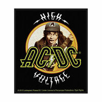 AC/DC HIGH VOLTAGE ANGUS OFFICIAL LICENSED SEW ON PATCH ROCK BAND BADGE NEW