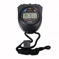Professional Digital LCD Timer Chronograph Counter Stopwatch with Strap