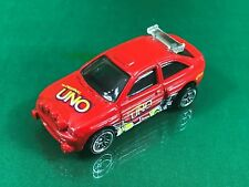Hot Wheels 1/64 Diecast Ford Escort Rally Tunner in Great Condition BX17
