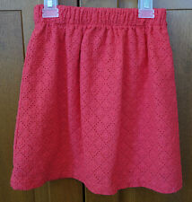 NWT Bella Bliss Pinkish Red Eyelet Lined Skirt - Girl's 4 Year ~ Precious!