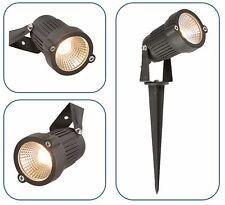 Nero ip54 4w LED Parete/Spike SPOTLIGHT LUCE GIARDINO ESTERNO MODERNO COMPLETO