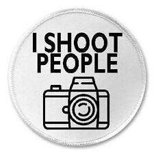 """I Shoot People - 3"""" Sew / Iron On Patch Camera Photography Photographer Humor"""