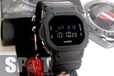 Casio G-Shock Monotone Black Cloth Band Men's Watch DW-5600BBN-1