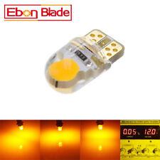 2PCS T10 194 168 W5W COB 2SMD Silica Car LED Light Bulbs Super Bright Amber 12V
