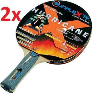 2 SUNFLEX HURRICANE Orange-X Series ITTF Approved Taipan Table Tennis Bats 10052