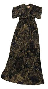 Fleur Wood Maxidress Size 1 100% Silk