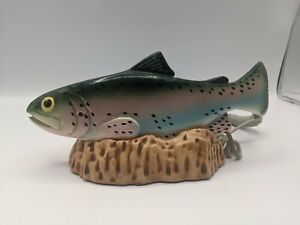 Carved Trout Fish Phone Wood Carved TT Systems Corp Telephone Land Line Rare