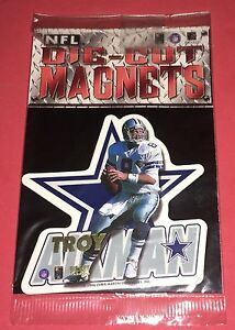1996 Nfl Troy Aikman Die-Cut Magnet Brand New Factory Sealed