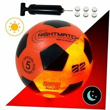 Light Up Led Soccer Ball - Official Size 5 - Extra Pump and Batteries - Red