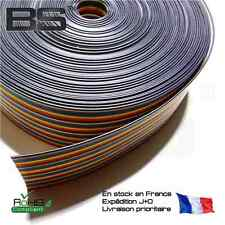 Cable couleur 40P 0.3 mm carré 10 couleurs nappe plate DuPont connection 2.54
