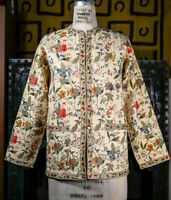 Floral Print Reversible Cotton Jacket with Extra Buttons Small -  New, Unworn
