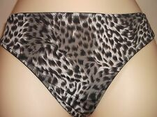 Cybele Lingerie Leopard Print Soft Touch Thong - Size 8