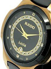 Rado Jubile Black Tungsten & Gold Tone Stainless Steel Swiss Vintage Men's Watch