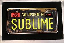 Sublime License Plate Rare  Blacklight Poster