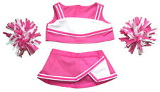 """Pink & White Cheerleader Outfit Teddy Bear Clothes Fit 14"""" - 18"""" Build-A-Bear an"""