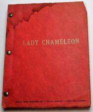 Lady Chameleon * Movie Script Screenplay Unproduced by Producer James S. Elliott