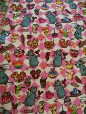 Custom 100% Cotton Woven Fabric Disney Snacks Ratatouille In Stock Per Yard