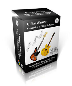 Guitar Warrior Composing & Editing Software For Windows 7, 8, 10 & Mac OS-X CD