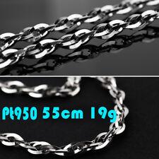 LUXUS Collier Platin 950 Platinkette Kette bis 55cm 19,79g Pt950 edler als Gold