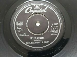 "PAUL MCCARTNEY HELEN WHEELS MID 70'S  UK CAPITOL  7"" vinyl Beatles"
