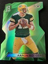 2015 Panini Spectra Football Aaron Rodgers Packers Neon Green Die Cut 15/15