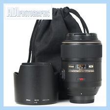 Nikon 105mm f2.8 G AF-S VR IF ED Micro Lens
