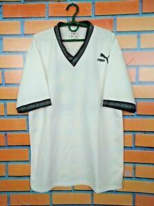 Puma Jersey LARGE Shirt Vintage Retro Football Soccer