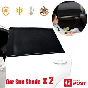 2x Car Side Rear Rectangular Window Sun Shade Mesh Baby Kid Pet UV Protection