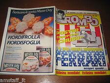 RIVISTA ROMBO 1987/20=POSTER FERRARI=ALAIN PROST GP F1 BELGIO=MISTER DAY=