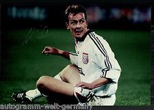 Mario Basler super grandi foto 20x30 cm il Bayern Monaco ORIG. Sign. +25