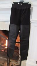 PAIGE Black Label Paloma Leather Panel Zippered Leggings Sz M Retail $199.00
