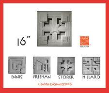 "Frank Lloyd Wright STORER HOUSE DESIGN TILE 16""sq Cast Concrete BLOCK Made USA"