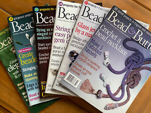 Bead and Button Magazine, All 2001 Issues (41-46) VG, Beading, Beadwork, Jewelry