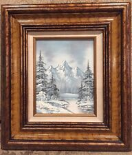 Winter Landscape Oil Painting Signed C. Madden, Stamped On The Back??