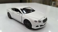 2012 Bentley Continental GT white toy car model kinsmart 1/38 scale diecast new